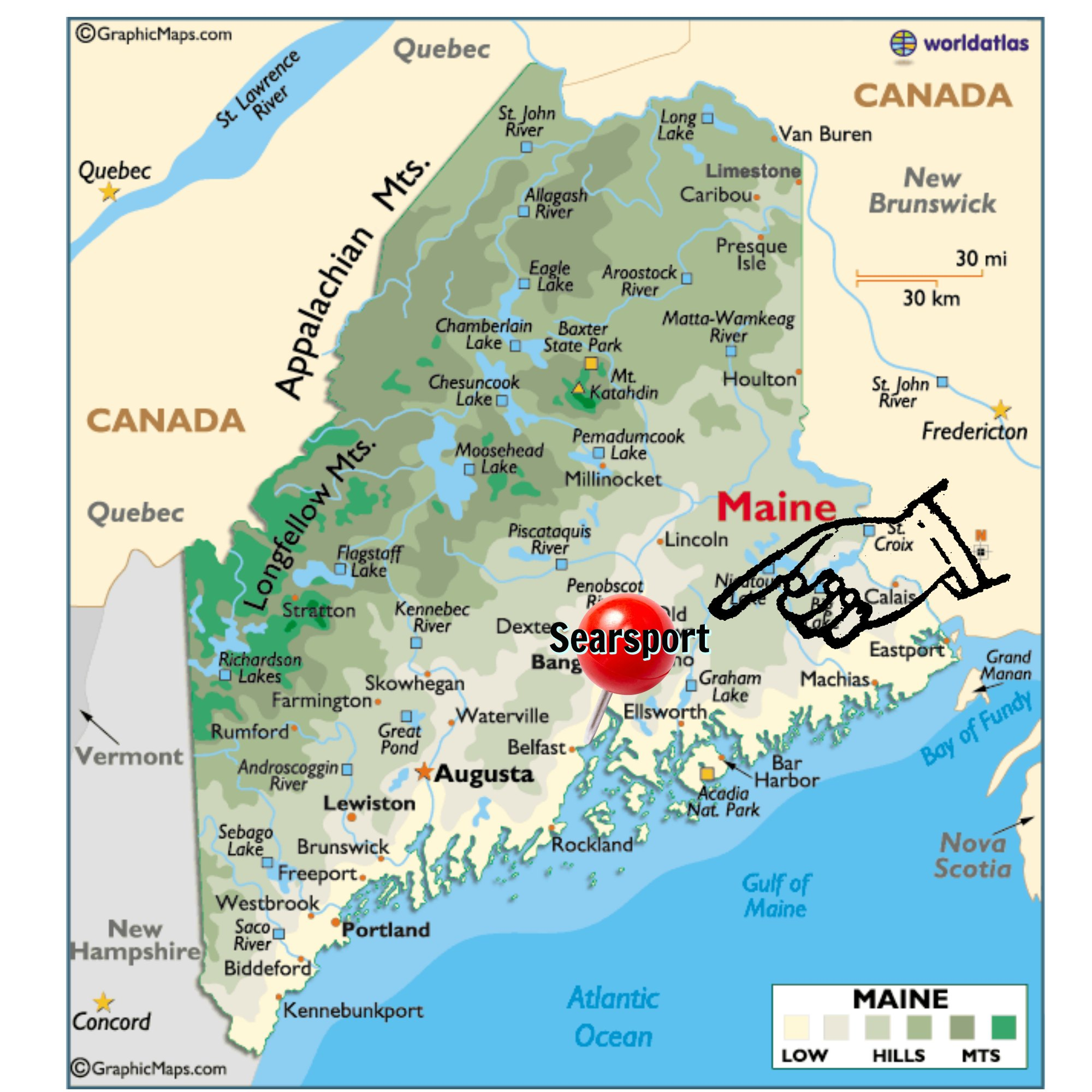Ocean Park Maine Map.We Re Here Maine Map Maine Ocean Camping