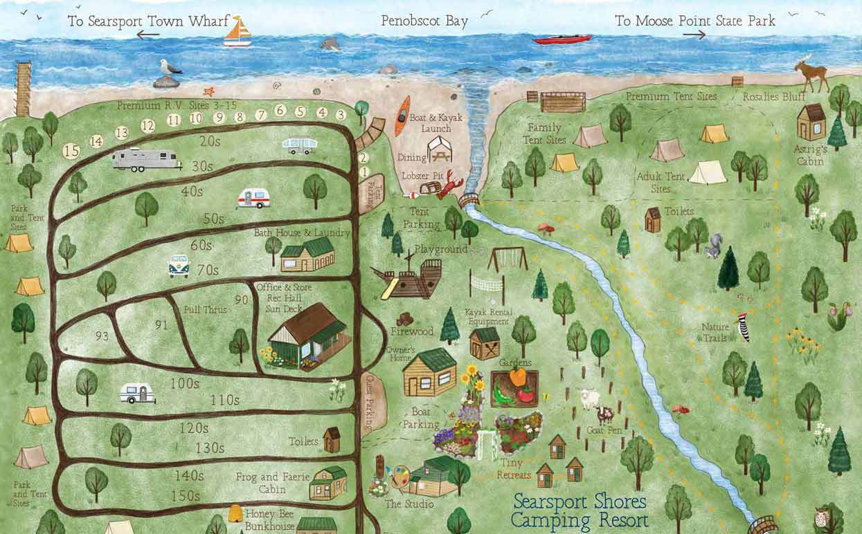 Searsport Shores. Campground Map
